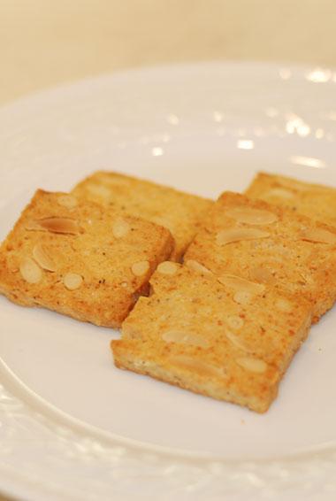塩味のクッキー大